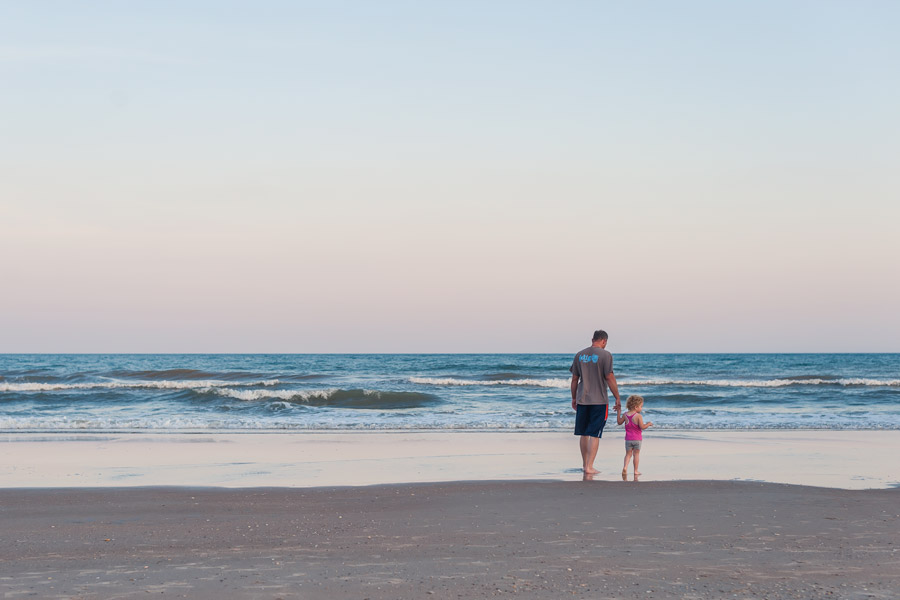 Topsail island, family vacation, sunsets, beach, water, father, daughter, summer, north carolina, yeahthatgreenville, greenville photographer, nikon