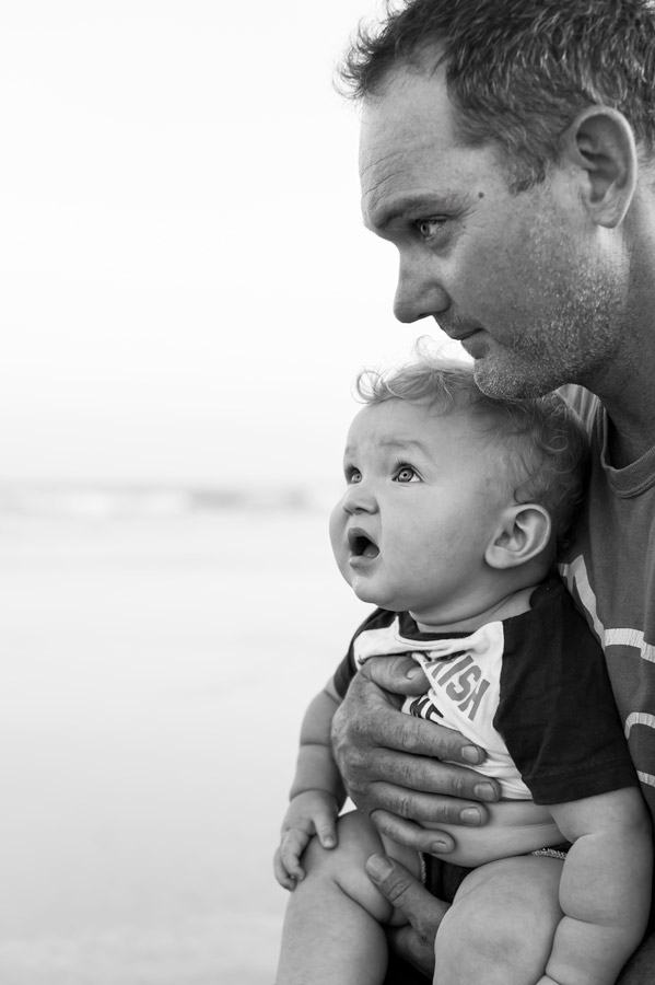 father, son, beach, family vacation, black and white, sunsets, summertime, topsail island, north carolina, greenville photographer, yeahthatgreenville