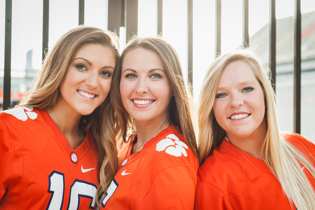 Three Gorgeous Clemson Grads Senior Photographer Wendi Matt Clemson, SC