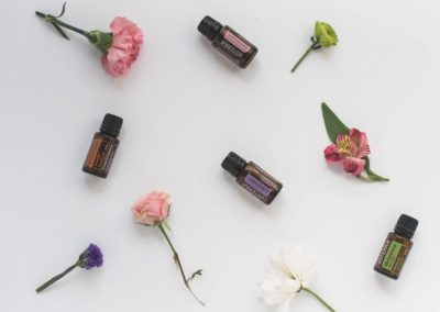 flat lay photos of essentials oils