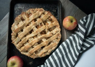 food photography at home apple pie