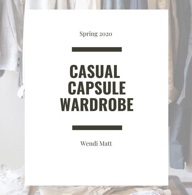 Casual Spring, Summer Wardrobe