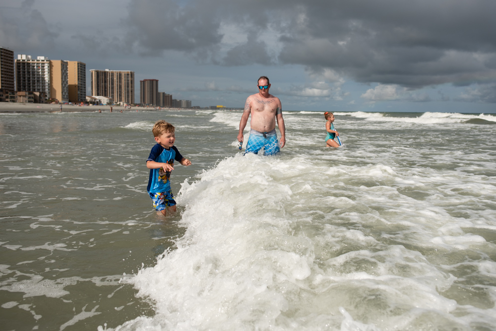 Jumping waves at Myrtle Beach